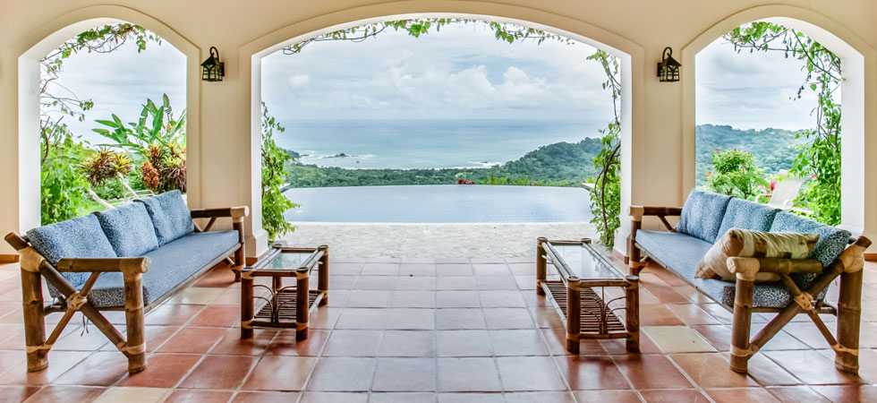 Casa Elizabeth Spanish Style Ocean View Home in Dominical