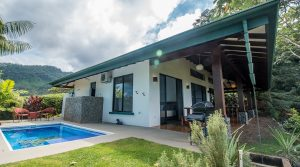 Comfortable Single Level Ocean View Home in Uvita With Pool